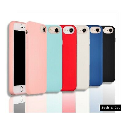 Silicone Soft Rubber Shockproof  Phone Case Cover For Apple iPhone 6 6S 7 8 X