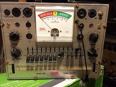 Eico Model 628 Tube Tester Good Condition