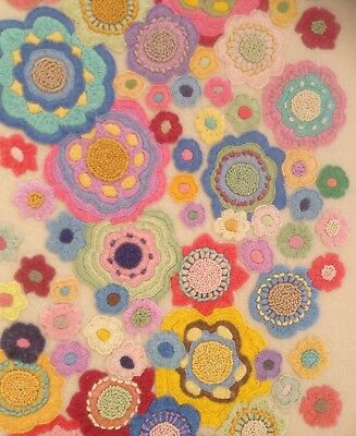 Vintage Vibrant Hand Made Embroidery 1960s