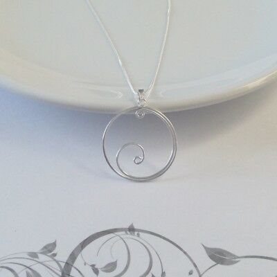 """925 Sterling Silver open swirl pendant with 18"""" chain"""