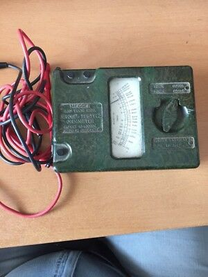 MEGGER Circuit Testing Ohmmeter  Vershed and Vignoles