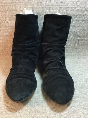 8a1badadac8 NINE WEST WOMEN'S Black Slouch Suede Ankle Boots Size 8 M