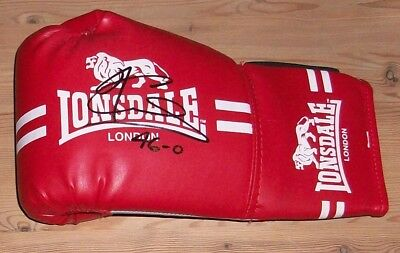 Joe Calzaghe signed boxing glove with original authentic autograph