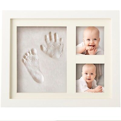 Bubzi Co Baby Clay Handprint Footprint Photo Frame Kit for Newborn Girls and Boy