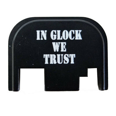 In Glock we Trust Slide Cover Rear Back Plate for Glock Gen 1 to 4