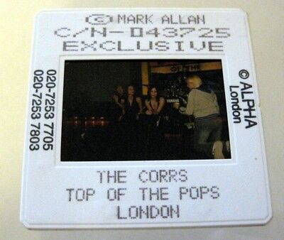 THE CORRS  35mm SLIDE photo Negative PROMO Original from UK Archive #2092