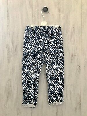 Girls Next Joggers Size 2-3 Years Blue White Trousers Diamond