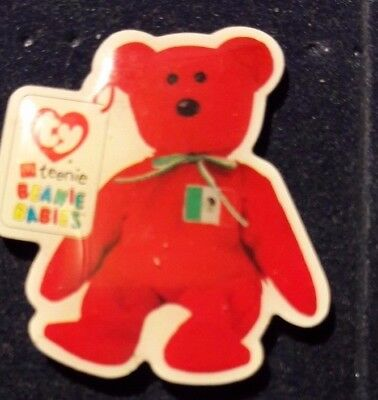Original Mcdonald Mcdonald MCD PIN Badge-Teenie Beanie Babies Teddy/Fahne Italy