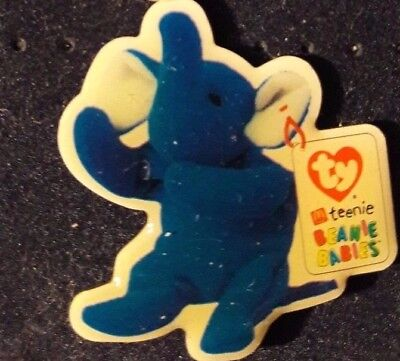 Original Mcdonald Mcdonald MCDPIN Badge-Teenie Beanie Babies/ Elefant Royal Blue