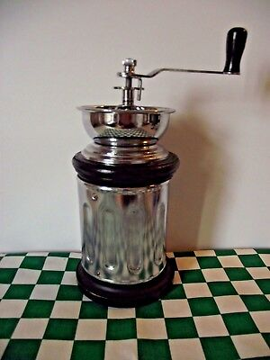 Vintage Streamline Adjustable Coffee Grinder Spice Mill Hand Cranked