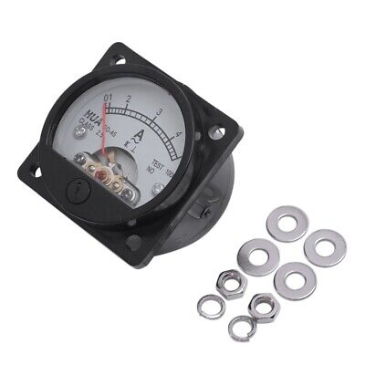Class 2.5 Accuracy AC 0-5A Analog Panel Round Meter Ammeter Meter Black K3M J9D2