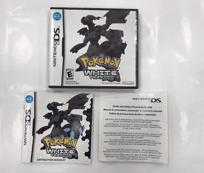 Pokemon White Version - Nintendo DS - Replacement Case w/ Manual Only - No Game