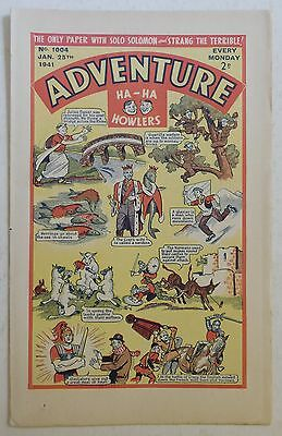 ADVENTURE #1004 - 25th January 1941