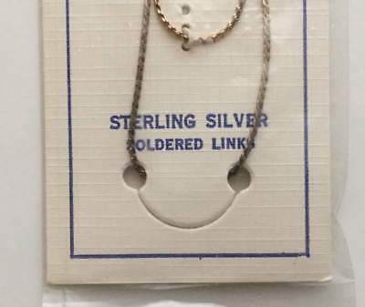 """Vintage Necklace 925 STERLING SILVER 18"""" chain Jewelry lot b"""