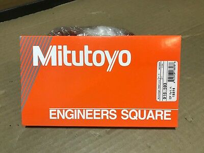 "Mitutoyo 6"" Precision Steel Engineer Square NEW Grade B 0.00063"" 7"" 4"" / 916-593"