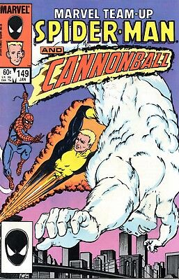 MARVEL TEAM-UP no.149, SPIDER-MAN AND CANNONBALL, 1985
