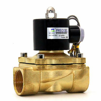 "Precise SF2W250-N25-24VDC 1"" NPT(F) Brass Electric Solenoid Valve Normally Close"