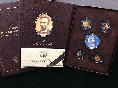 2009 Lincoln Chronicles 5 Coin Proof Set Box and COA