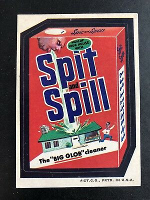 1973 Topps Wacky Packages VERY RARE Original 3rd Series SPIC N SPAN SPIT N SPILL