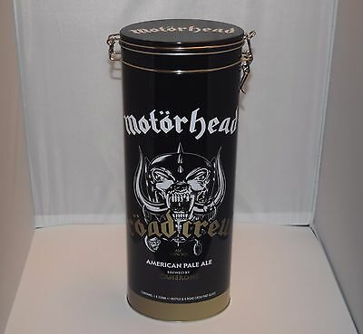 Motörhead  Ltd Ed. ETCHED BEER GLASS & COLLECTABLE TIN & EMPTY BOTTLE (NO BEER)