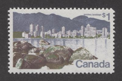 Canada #600i $1 Vancouver Caricature Issue Ribbed Paper Type 2 VF-84 NH