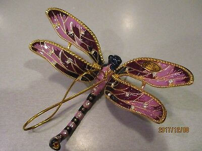 Dragonfly Ornament ~ Articulated ~Purple