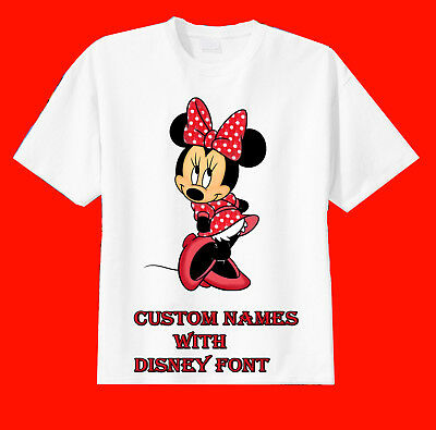 Minnie Mouse Custom T-shirt Personalize Birthday Short or Long Sleeve Tshirt Tee