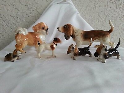 Collection of Hagen Renaker and Made in Japan Dog Figurines