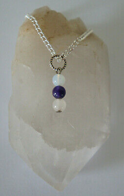 1 Fertility Love, Hope & SUPPORT Amethyst/ Rose Quartz/Moonstone  Pregnancy Pend