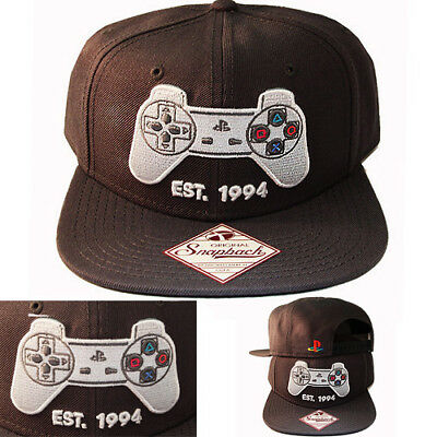 info for ba50b bd72d Sony Playstation EST 1994 Logo Grey Snapback Hat Cap Official PS1 Controller  PS