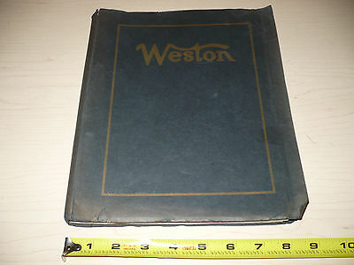 WESTON Electrical Instrument Bulletins Binder 1923-25 270+Pg! Collector's Dream!