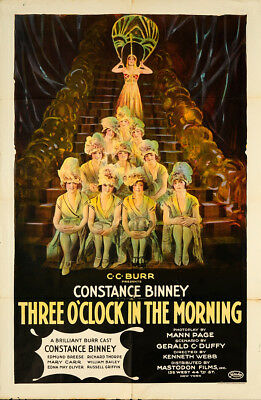 Three O'Clock in the Morning 1923 27x41 Orig Movie Poster FFF-65258 Array