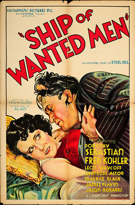 Ship of Wanted Men 1933 27x41 Orig Movie Poster FFF-65271 Leon Ames