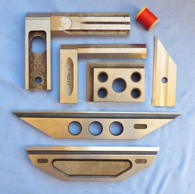 Vintage Machinist's Tools ~ Squares & Other Machine / Mill Set-Up Tools