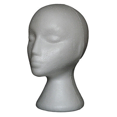 IM- Abstract Foam Mannequin Head Manikin Model Wig Hair Glasses Display Stand Ch