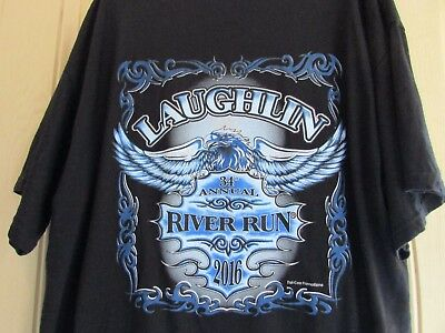 Official Laughlin River Run 2016 Men's Black Shirt Size 2 X Large New