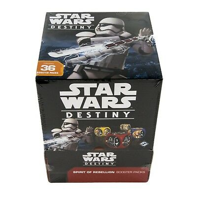 Star Wars Destiny: Spirit of Rebellion Booster Box - Sealed - Free Shipping