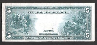 Beautiful 1914 Type-A New York $5 Large Federal Reserve Note