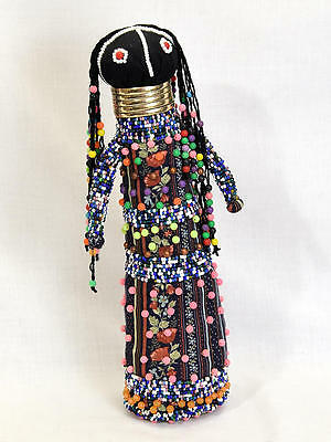 """13"""" Ndebele Beaded African Doll Southern Africa Excellent"""