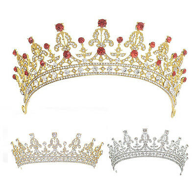 IM- Queen Tiara Bride Princess Women Crown Hairband Headwear Wedding Jewelry Exo