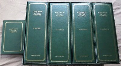 1982 Coins Sets of All Nations, 4 Volumes 106 Countries ~700 coins Franklin Mint