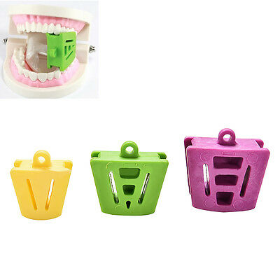 IM- 3 Pcs Dental Mouth Prop Bite Block Cushion Opener Retractor L M  S Clever
