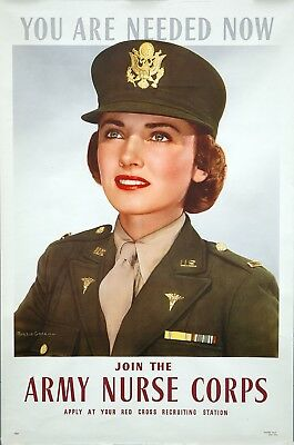 Original Red Cross YOU ARE NEEDED NOW—ARMY NURSE CORPS World War II Poster 1943