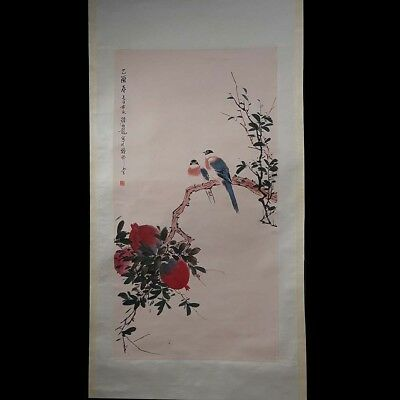 Exquisite Chinese Old Scroll Handwork Painting Landscape Marks YanBoLong PP003