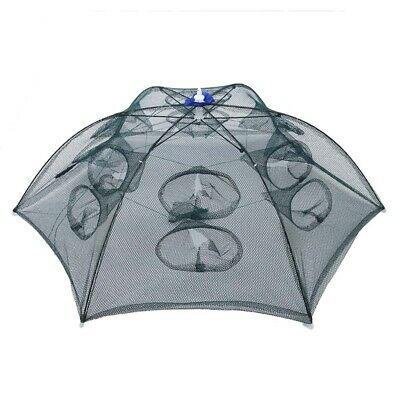 Trap Net Fishing Camaron Cage Portable Umbrella Style Foldable with 12 Hole R1S4