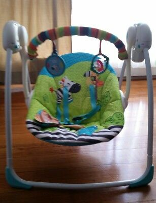 baby swing rocker  portable  bright start