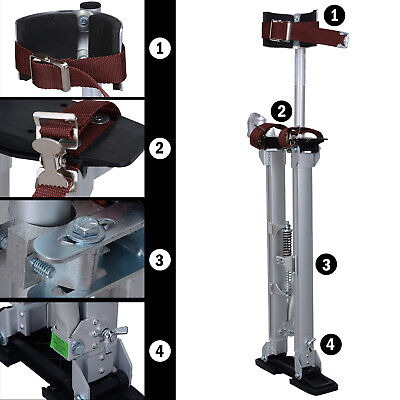Drywall Stilts Aluminum Tool Painters Walking Painting Taping Silver 24-40 inch