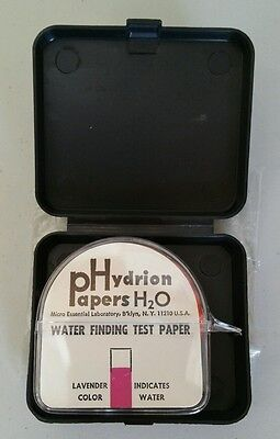 NEW Hydrion Water Finder Test Paper Kit WF-130