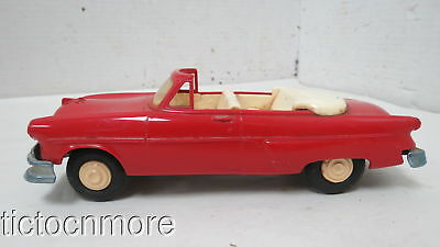 Vintage Red Convertible Friction Classic Sedan Toy Car 7 1/2""