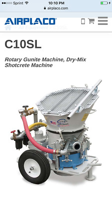 AIRPLACO C10SL Gunite Machine